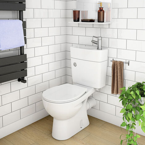 2 in 1 Compact Combo Basin and Close Couple Toilet Set
