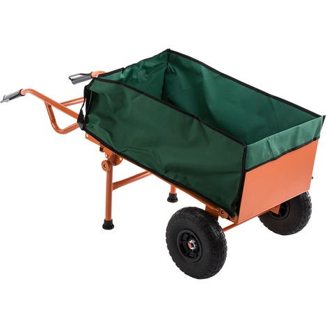 2 in 1 Durable Heavy-duty Industrial Lightweight Folding Barrow Sack Truck Trolley Hand Cart 150kg Capacity