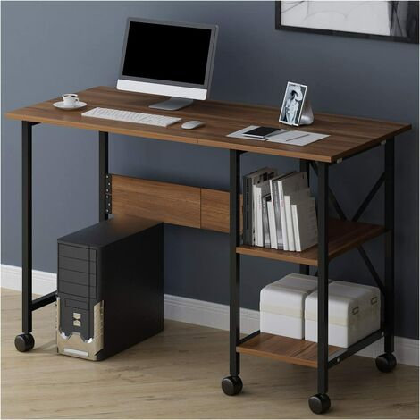 2-In-1 Extending Folding Computer Office Desk