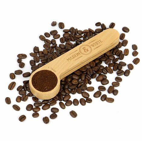 2 in 1 Wooden Coffee Clip & Spoon   M&W