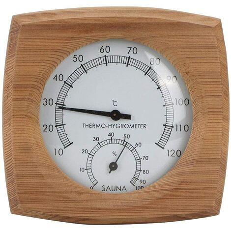 2-In-1Sauna Température Cèdre Bois Thermomètre Hygromètre Thermo-Hygromètre Accessoires De Sauna