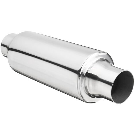 "2'' Inlet Outlet 12"" Universal Exhaust Turbine Muffler Resonator Stainless Steel"