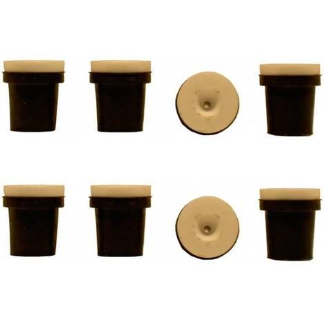 2 jeux de 4 buses ceramique noires pour pistolet sableuse 38-76l a jet libre