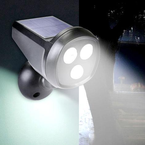2 Led Motion Sensor Solar Garden Safety Lamp