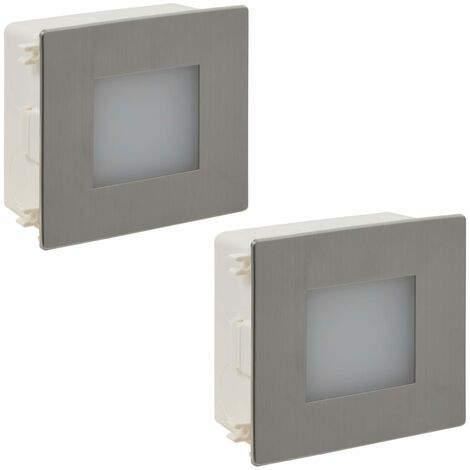 2 LED Recessed Stair Light 85 x 48 x 85 mm