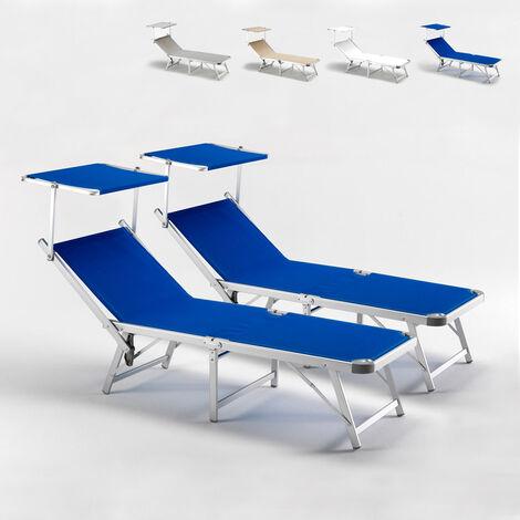 Lettini Da Spiaggia Leggeri.2 Lettini Spiaggia Mare Pieghevoli In Alluminio Gabicce
