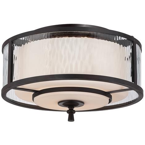 2 Light Flush Ceiling Fitting by Washington Lighting