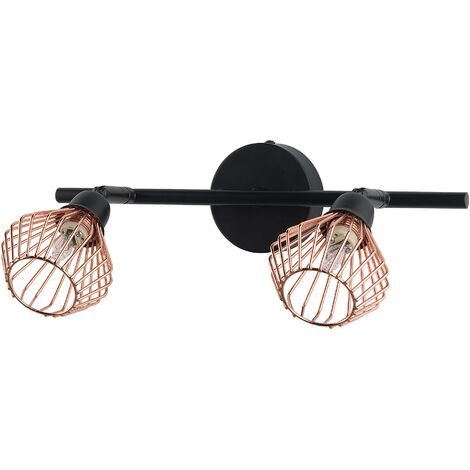 2 Light Metal Wall Light Copper VOLGA