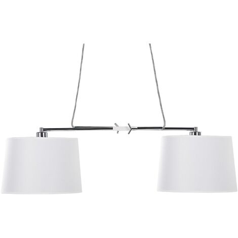 2 Light Pendant Lamp White FUCINO