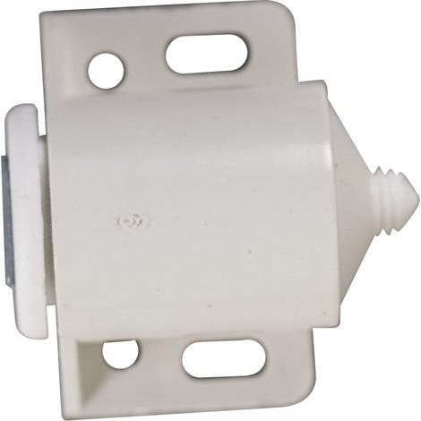 2 Loqueteaux magnétiques 4kg plastique blanc