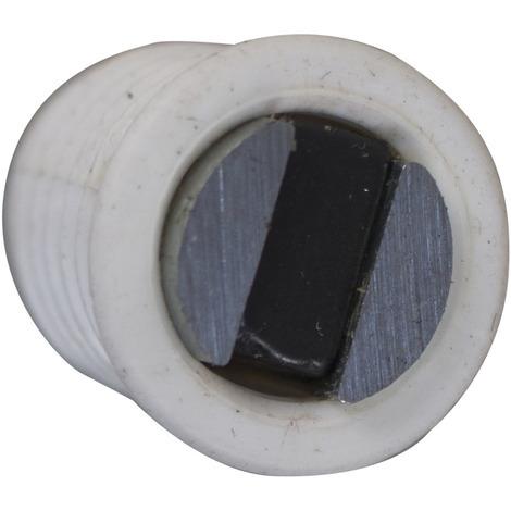 2 Loqueteaux magnétiques à entailler 4kg plastique blanc