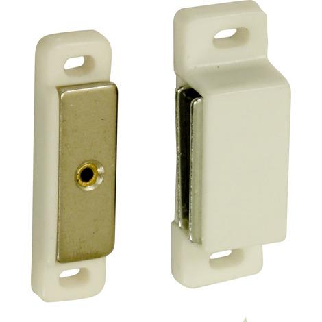 2 loqueteaux magnétiques standard plus 4 kg plastique blanc