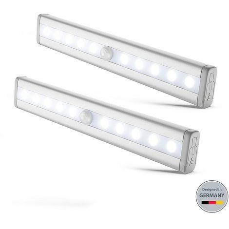 """main image of """"2 lumières LED réglettes veilleuses avec détecteur de mouvemen éclairage de sécurité armoire cuisine"""""""