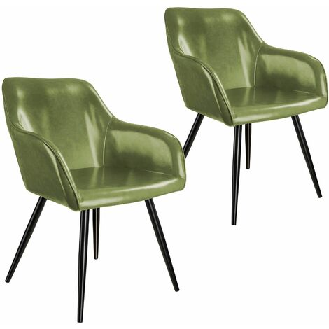 2 Marilyn Faux Leather Chairs