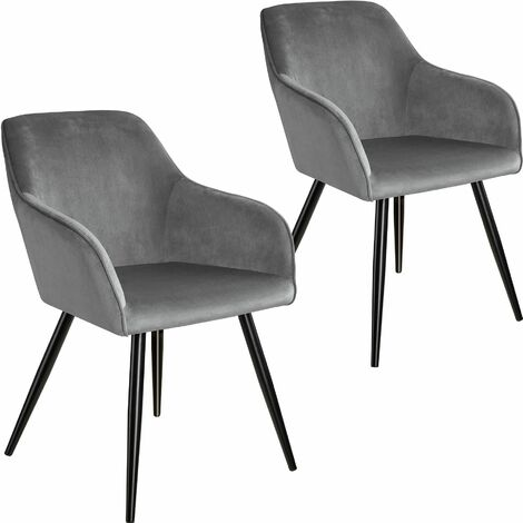 2 Marilyn Velvet-Look Chairs