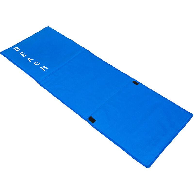 2 Matelas De Plage Pliables Avec 1 Dossier En Polyester 150 Cm X 55 Cm X 46 Cm Bleu