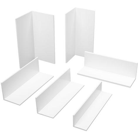2 Meter | Eckprofile | Winkel gleichschenklig | Auswahl | PVC |weiss | HJ