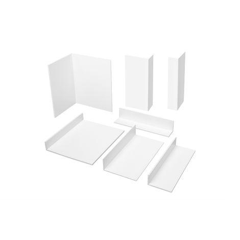 2 Meter | Eckprofile | Winkel ungleichschenklig | Auswahl | 2-2,5mm | PVC | HJ