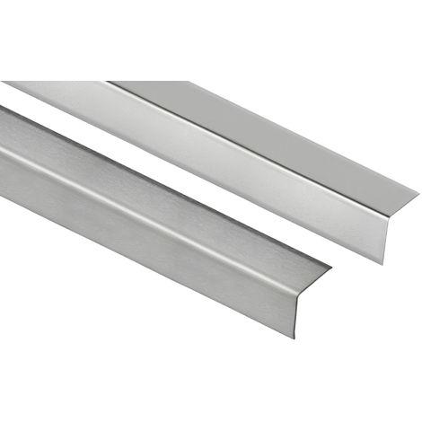 V2A diverse Gr/ö/ßen |/HEX100 SP 2 Meter |/Fliesenschiene L-Form Edelstahl
