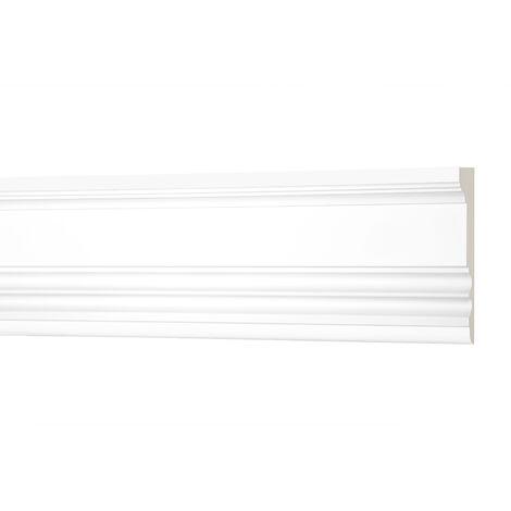 2 Meter Flachleiste 100x33mm - Stuckleiste aus PU glatt, stoßfest - Perfect AD334