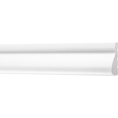 2 Meter | Flachleisten | Ecopolimer | stoßfest | Cosca | 12x35mm | CM14