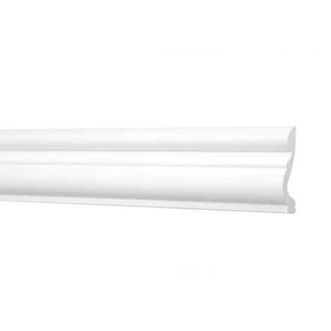 2 Meter | Flachleisten | Ecopolimer | stoßfest | Cosca | 58x19mm | CM24