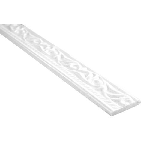 2 Meter | Flachprofil Polystyrolleiste Profile Bordüre | Hexim | 8x45mm | M-10
