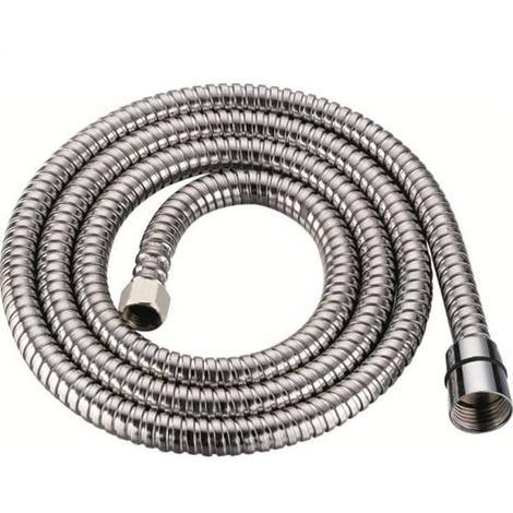 2 Meter Flexible Stainless Steel Bathroom Shower Hose Chrome Connections (SH062)