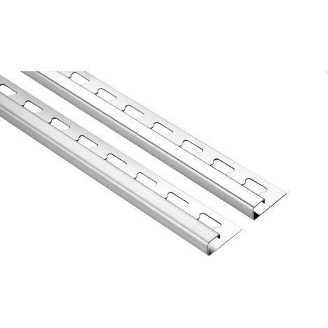 2 Meter | Fliesenschiene Quadrat | V2A Edelstahl | diverse Größen | HEX400