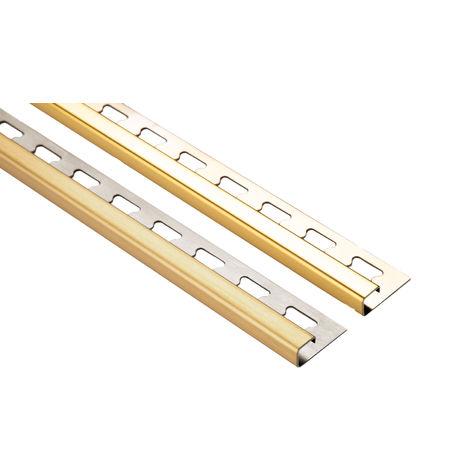 2 Meter | Fliesenschiene Quadrat | V2A Edelstahl | diverse Größen | HEX400 gold