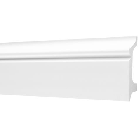 2 Meter | Sockelleisten | Ecopolimer | stoßfest | Cosca | 21x78mm | CP1