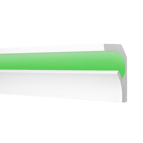 2 Meter | Zierleiste | Ecopolimer | stoßfest | Cosca | 115x90mm | CK25