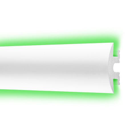 2 Meter | Zierleiste | LED | Ecopolimer | stoßfest | Cosca | 25x55mm | CM10