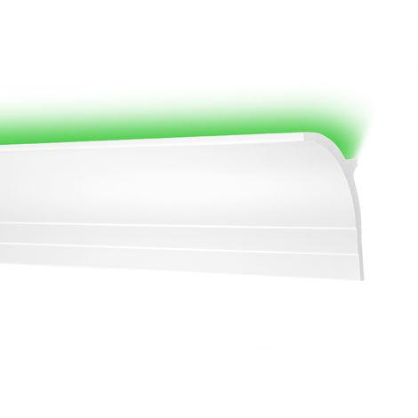 2 Meter Zierleisten LED HXPS Eckleisten Ecopolimer stoßfest hart Cosca 85x55mm CK45