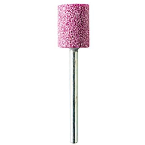 2 meules sur tige corindon rose D. 12 x 15 mm cylindriques Q. 3 mm - M.2070 - PG Mini - Rose