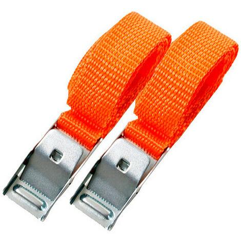 2 Minis sangles à boucle métallique 400 mm - XL Perform Tools