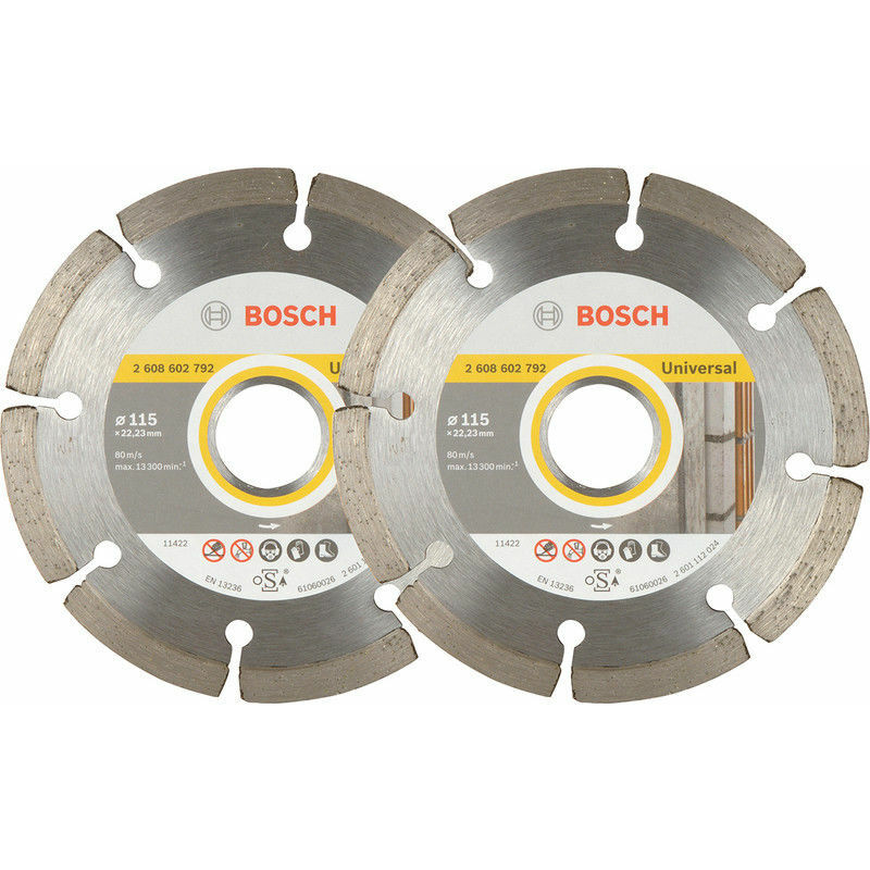 Image of 2 Pack Angle Grinder Diamond BLADES 115mm 06159975T2 - Bosch