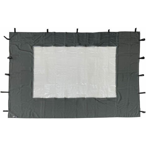 "main image of ""2 paneles laterales con ventana de PE 250x190cm gris para Gazebo 3x3m"""