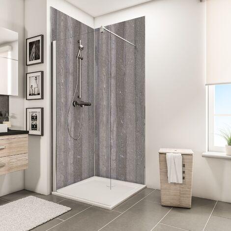 Lot de 2 panneaux muraux 100 x 210 cm 3 profil s rev tement pour douche et salle de bains - Revetements muraux salle de bain ...