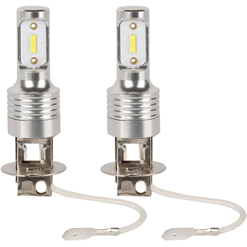 Happyshopping - 2 PCS H7 LED Ampoules Antibrouillard H1, H3, H4, H6,9005, H8 Phares De Voiture Antibrouillard De Voiture 6000K Blanc Lumiere De