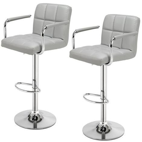"""main image of """"2 pcs Height Adjustable Swivel Bar Stool Bar Chair With Backrest - Different colours"""""""