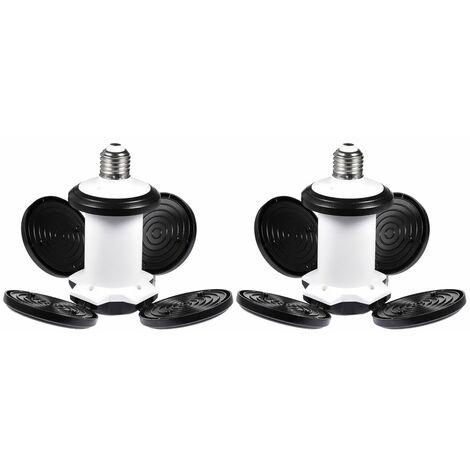 2 PCS LED Garage éclairage Soccer Forme économie D'énergie Atelier Atelier éclairage 4800LM 60 W Déformable Garage Lumière LLDUK-ZQ0000103X2
