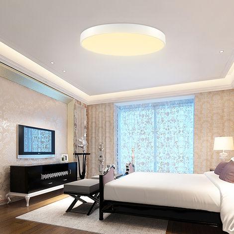 2 PCS LiVing - Lámpara de techo LED para cocina, baño, ultra delgado y redondo