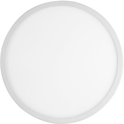 2 PCS Panel de luz redondo blanco frío de 20W