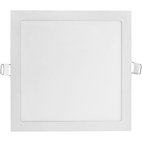 "main image of ""2 PCS Paquete de 2 paquetes de luz de techo empotrada LED ultra delgada cuadrada, pantalla plana, luz de techo empotrada LED para el hogar, luz de panel comercial"""