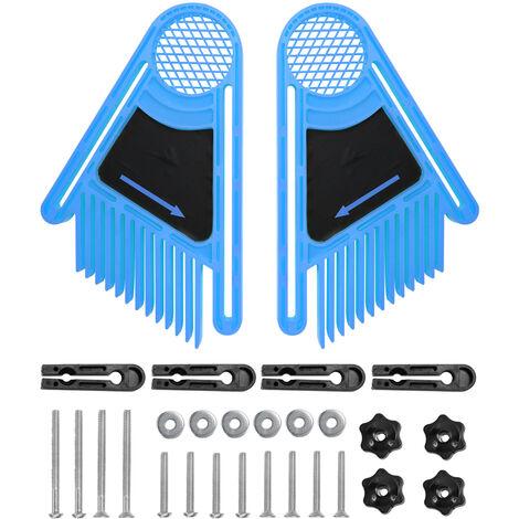 2 pi¨¨ces Flip Machine de gravure ¨¦lectrique scie circulaire Table scie ¨¤ ruban scie ¨¤ ruban plume conseil bois outils de travail du bois Chute bleu