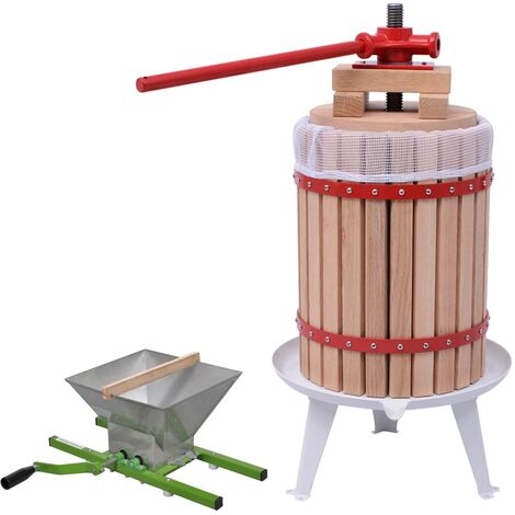 2 Piece Fruit & Wine Press and Crusher Set