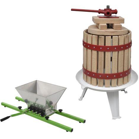 2 Piece Fruit & Wine Press and Crusher Set