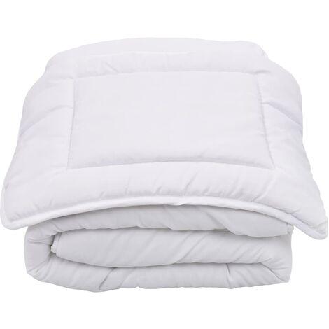 2 Piece Kids Summer Duvet Set White 120x150 cm/40x60 cm