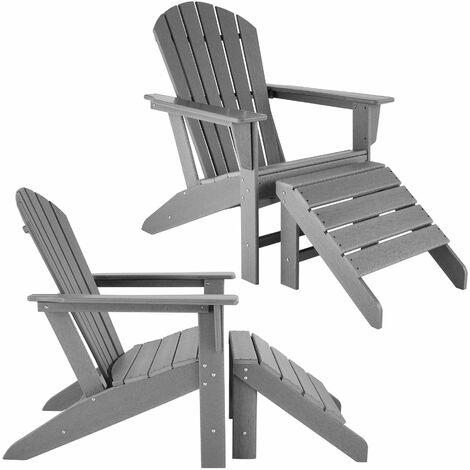 2-Piece Set Janis Garden Chair with Joplin Footrest